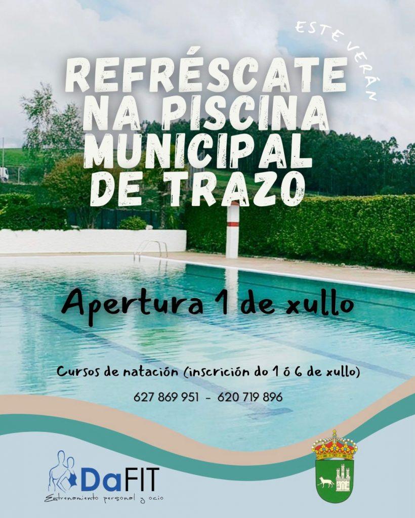 A piscina municipal abre o 1 de xullo