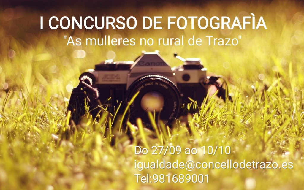 "BASES I CONCURSO DE FOTOGRAFÍA ""AS MULLERES NO RURAL DE TRAZO"""